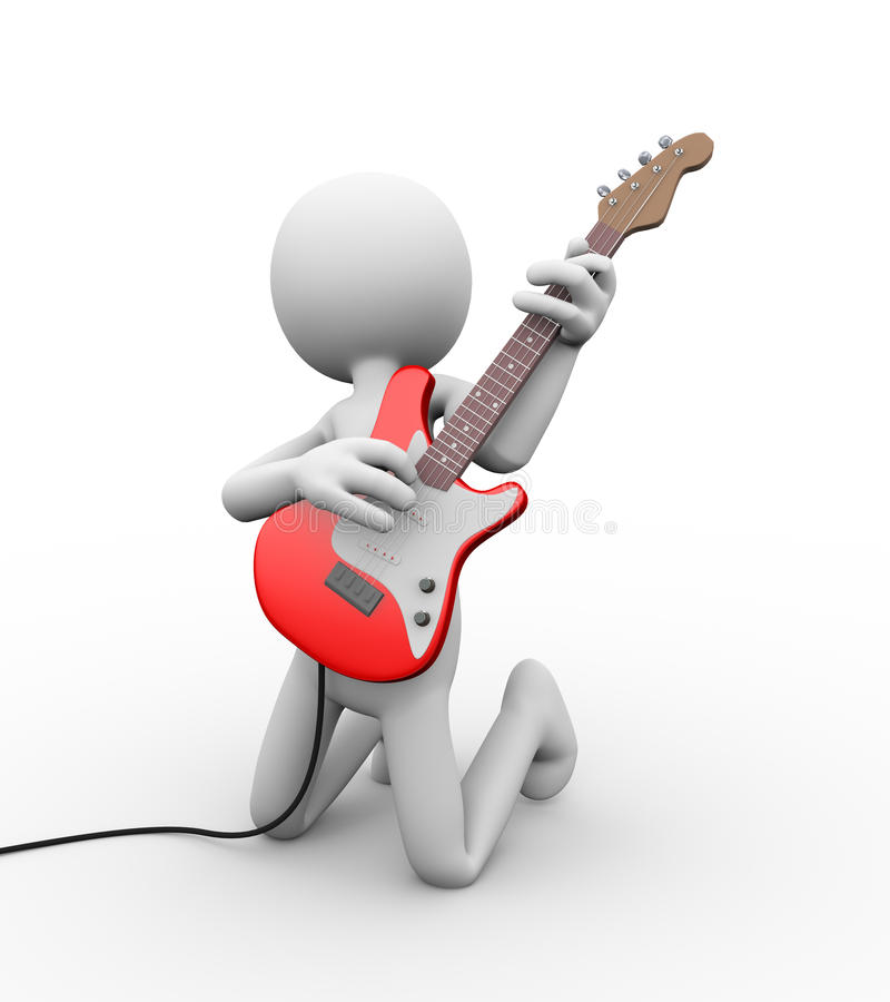 3d Electric Guitar Stool And Mic With Stand Stock
