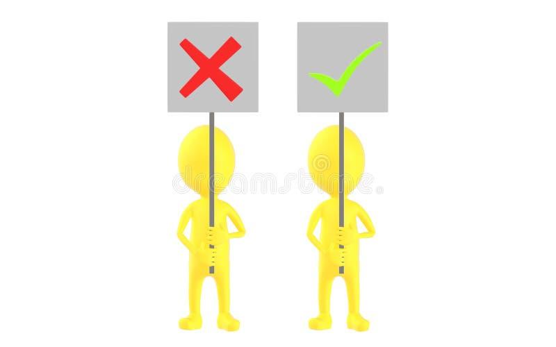3d gulnar teckenet, två tecken, ett av dem som rymmer ett fel teckenbräde och andra som rymmer en fästingteckenfläck arkivfoton