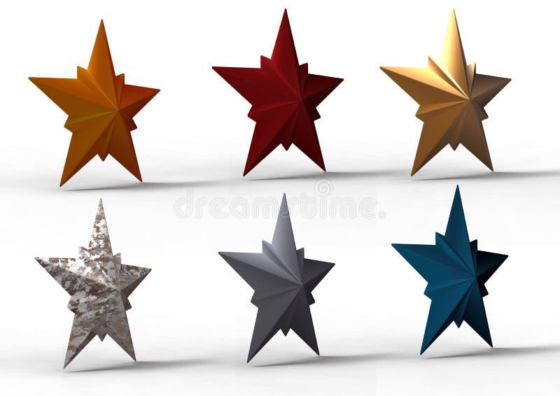 3d gwiazdy royalty ilustracja