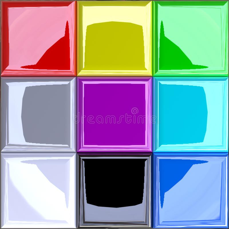 3D ha migliorato il modello di colore di RGB/tavolozza additivi illustrazione vettoriale