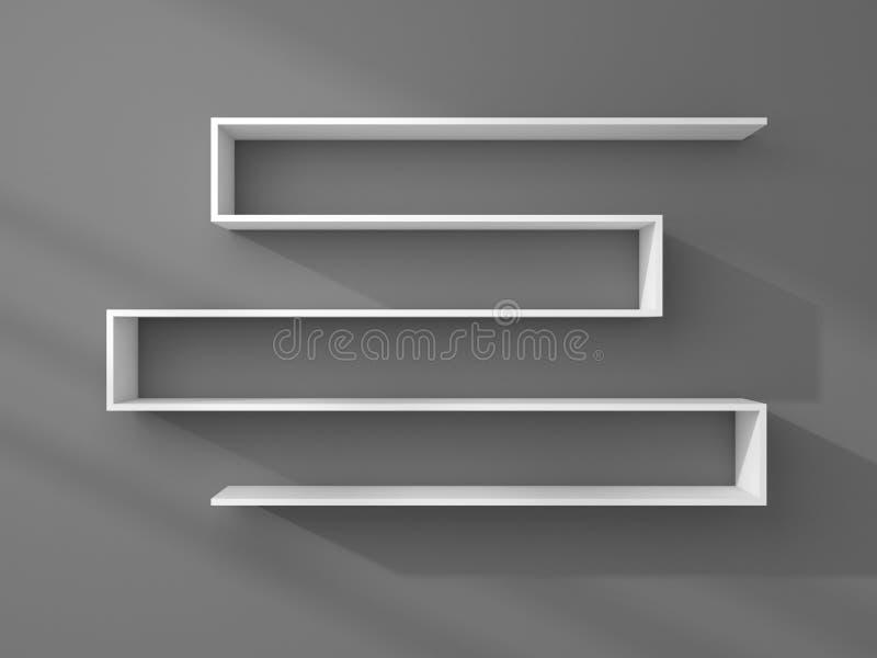 3d ha reso gli scaffali moderni illustrazione di stock for Mobilia arredamento 3d