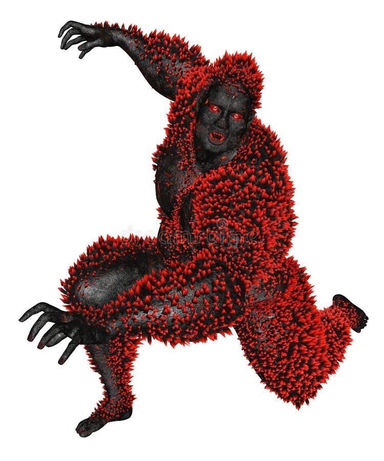 3D ha reso il mostro royalty illustrazione gratis