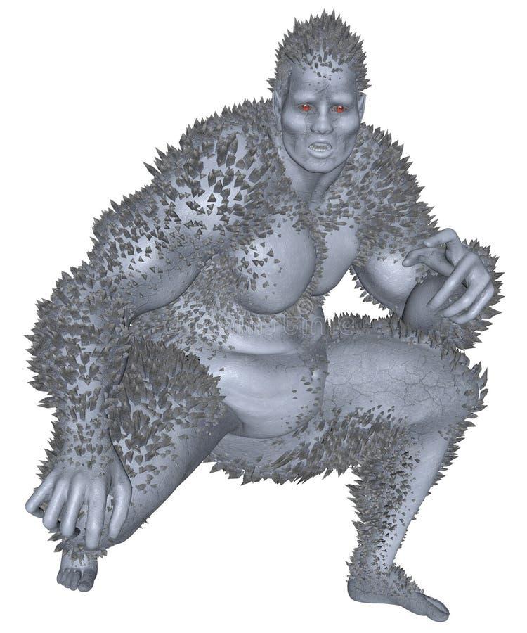 3D ha reso il mostro illustrazione di stock