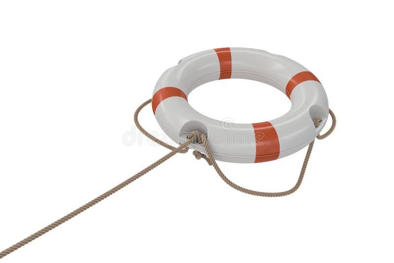 3D ha reso l'illustrazione del salvagente bianco Isolato su priorità bassa bianca royalty illustrazione gratis