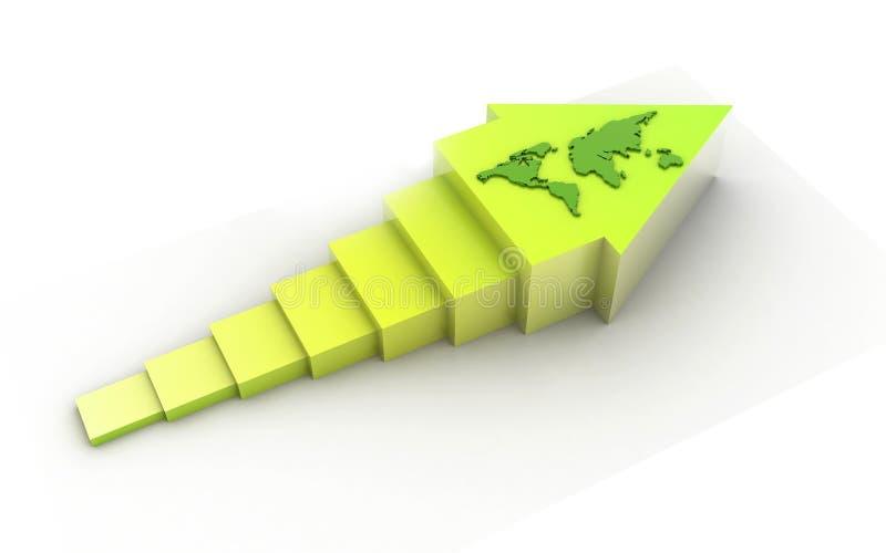 3d ha reso la freccia isolata su fondo bianco illustrazione di stock