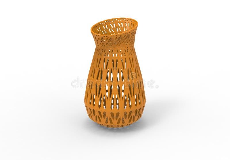 3D ha stampato il vaso giallo royalty illustrazione gratis
