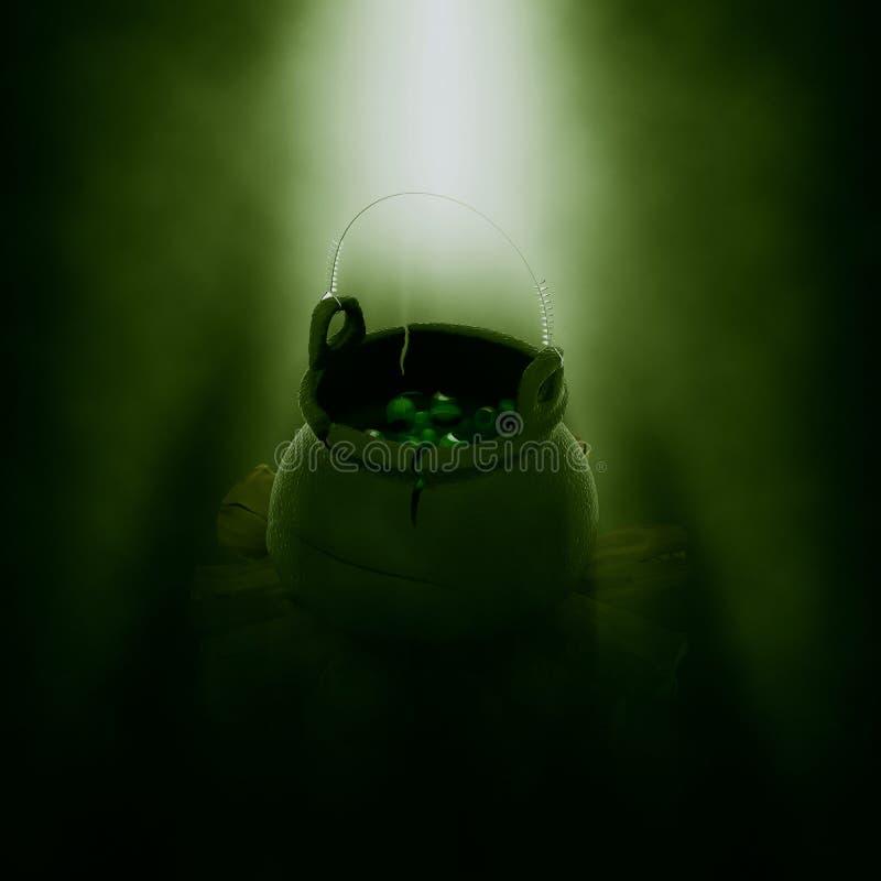 3D Halloween kocioł ilustracja wektor