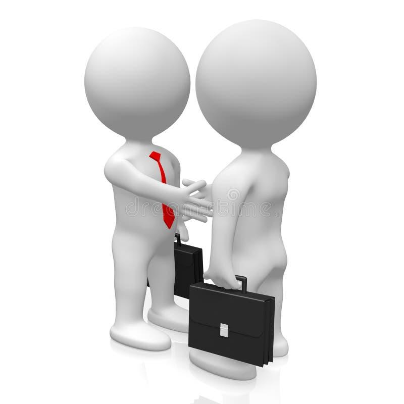 3D handshake, deal concept royalty free illustration