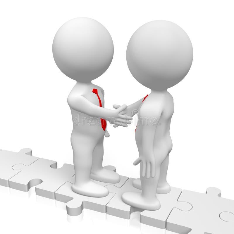 3D handshake, deal concept vector illustration