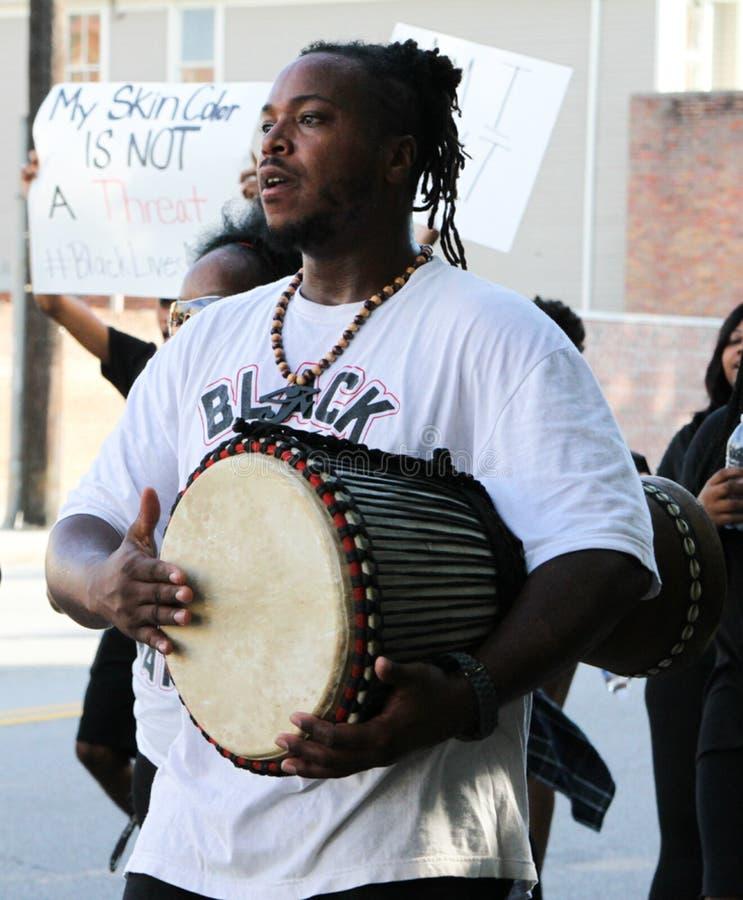 D'Hba, Charleston, SC Black Lives Matter Chapter royalty free stock image