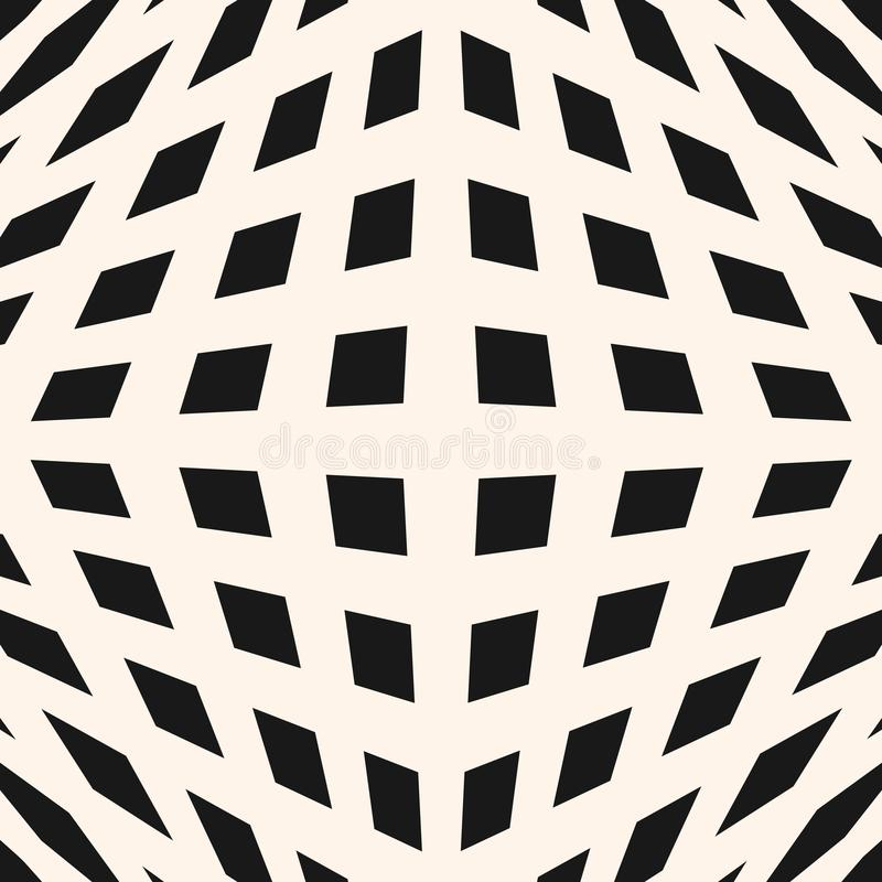 3d heckered pattern. Optical illusion effect. Vector geometric checkered pattern. Seamless texture with cubic shapes, squares, rhombuses. Optical illusion stock illustration
