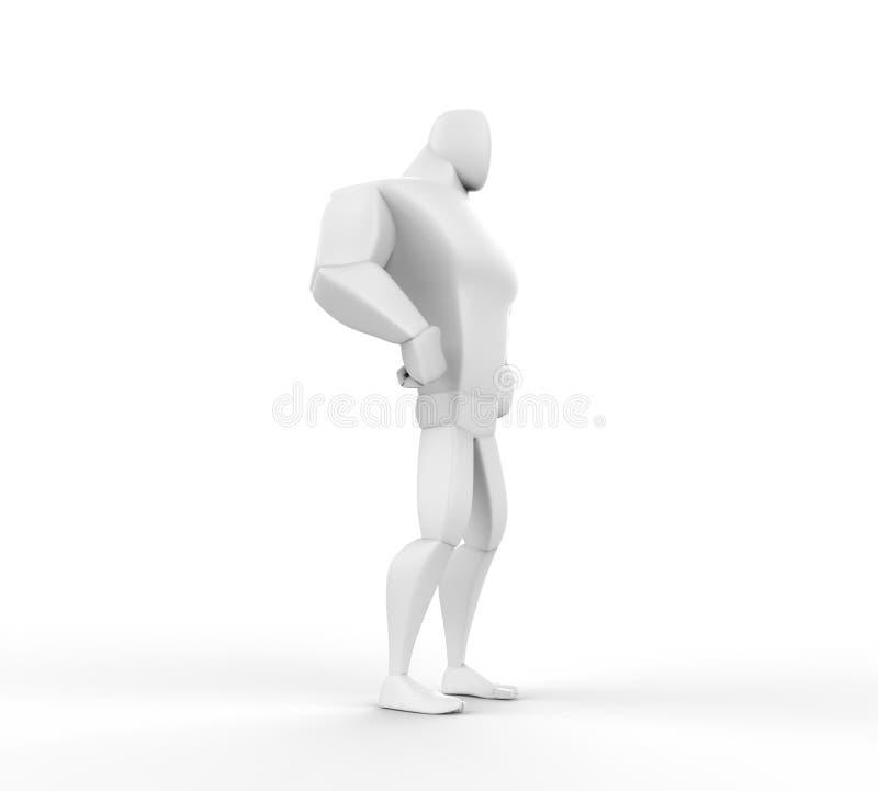 3D Held die - lager zijaanzicht bevinden zich vector illustratie
