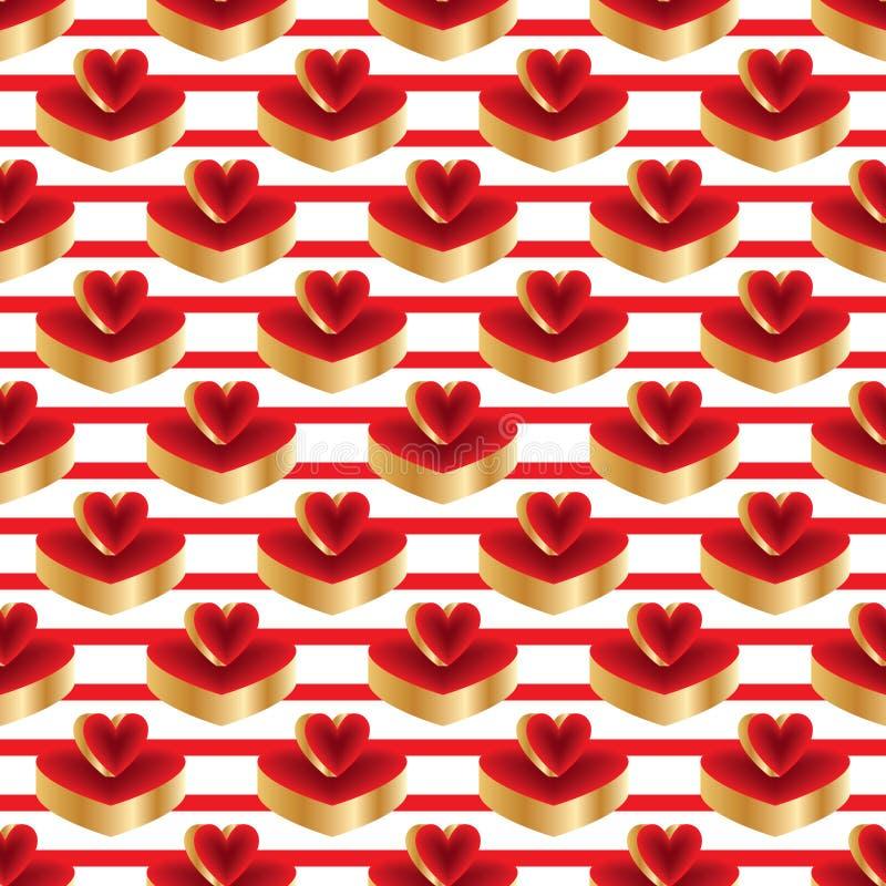 3d heldere naadloze patroon van het kleuren rode gouden platform vector illustratie