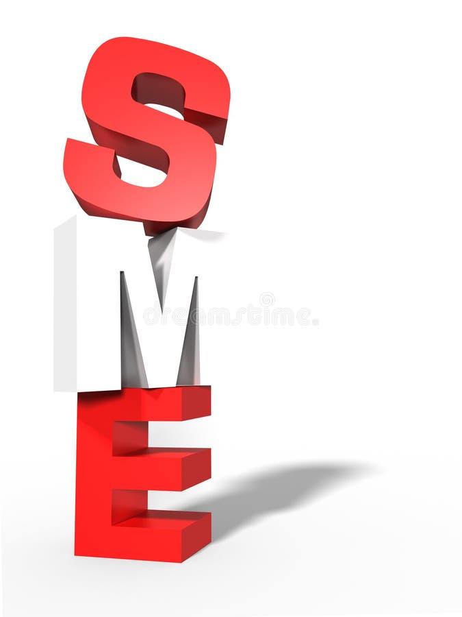 3D het MKB, de rode, kleine Zaken van het MKB, witte achtergrond vector illustratie