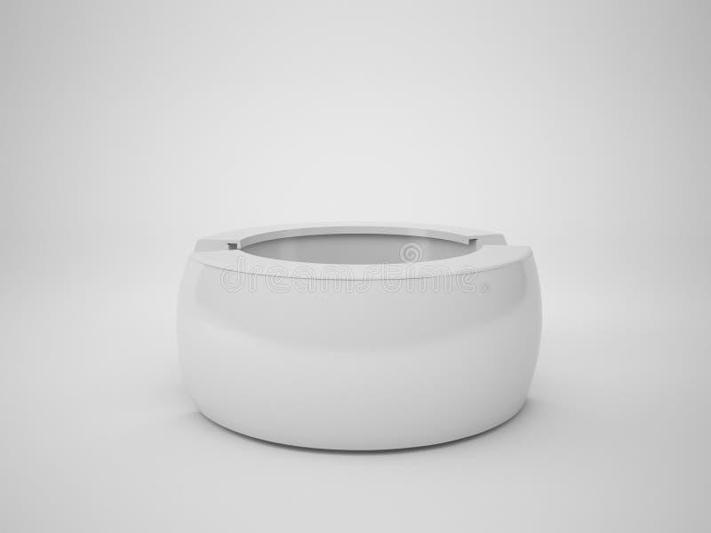 3D het teruggeven abstracte tegenbar op witte achtergrond, stock illustratie