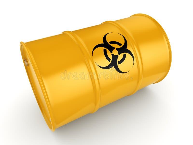 3D het teruggeven biohazard vat vector illustratie