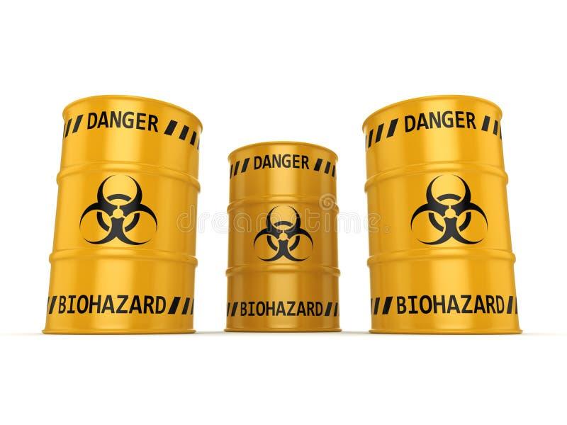 3D het teruggeven biohazard vaten royalty-vrije illustratie