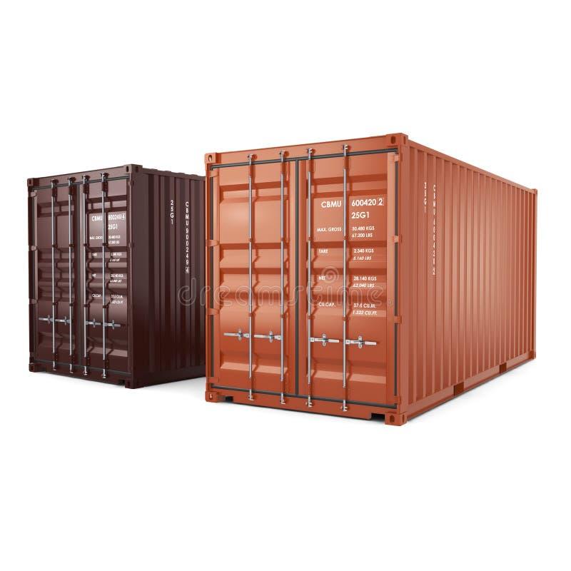 3D het teruggeven containers vector illustratie