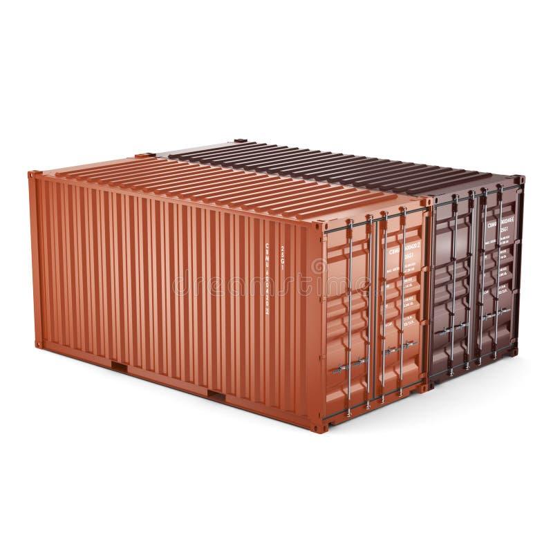 3D het teruggeven containers royalty-vrije illustratie