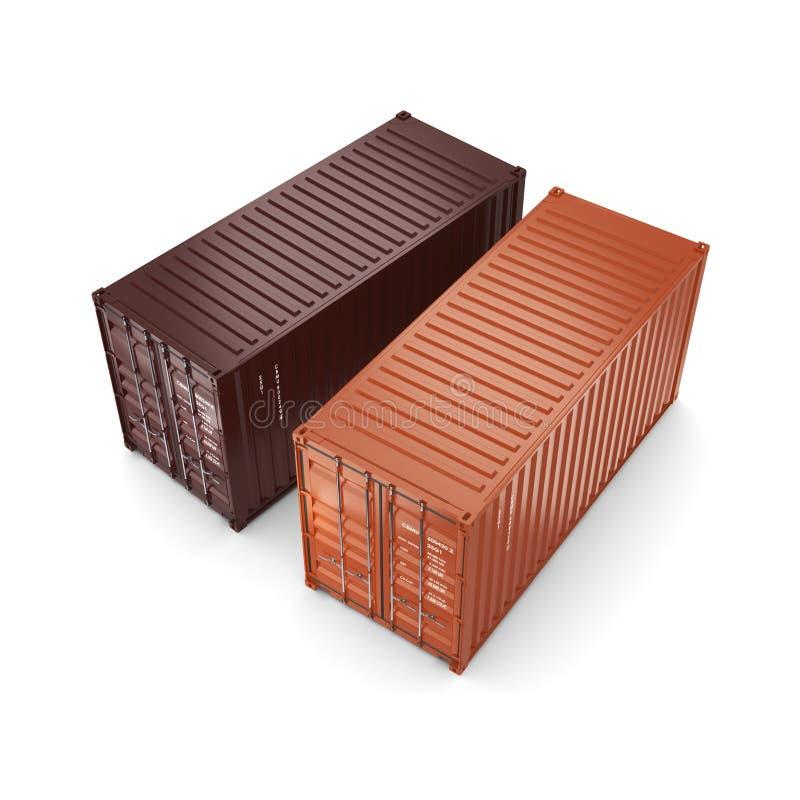 3D het teruggeven containers stock illustratie