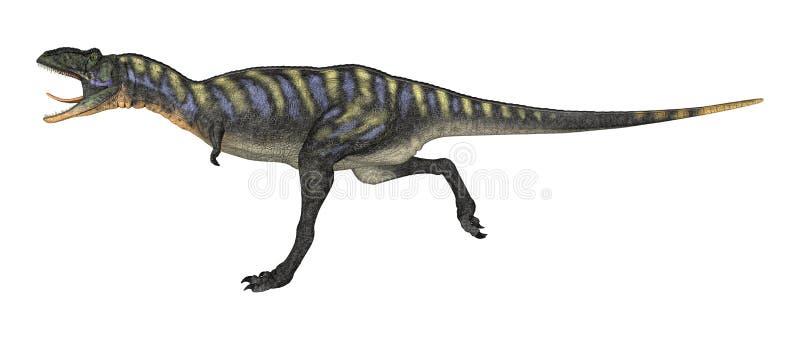 3D het Teruggeven Dinosaurus Aucasaurus op Wit vector illustratie