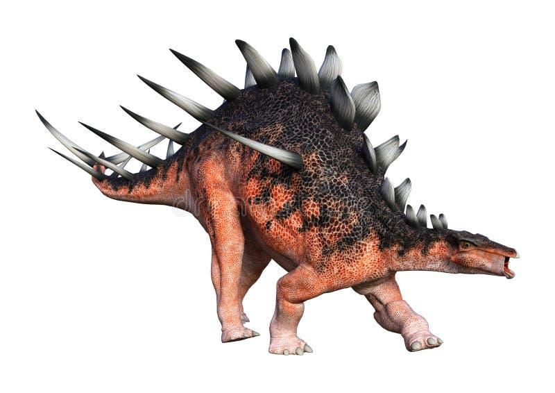 3D het Teruggeven Dinosaurus Kentrosaurus op Wit royalty-vrije illustratie