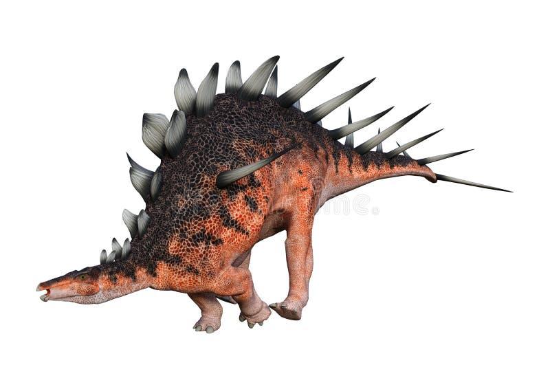 3D het Teruggeven Dinosaurus Kentrosaurus op Wit vector illustratie