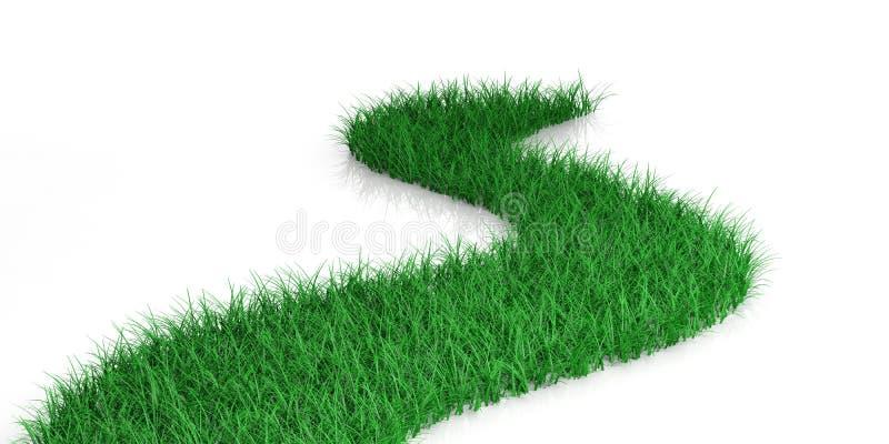 3d het teruggeven groene weg vector illustratie