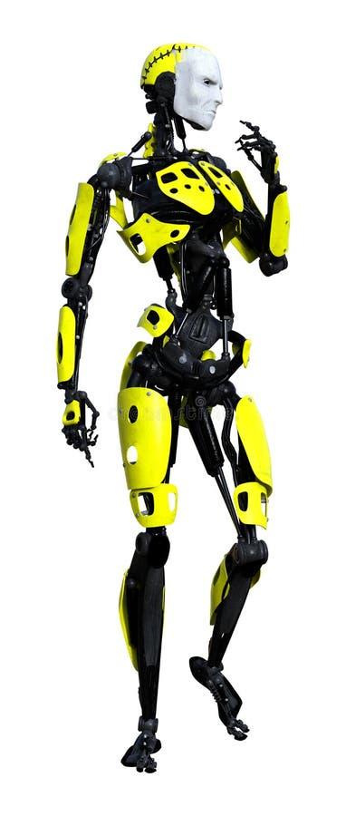 3D het Teruggeven Mannelijke Robot op Wit