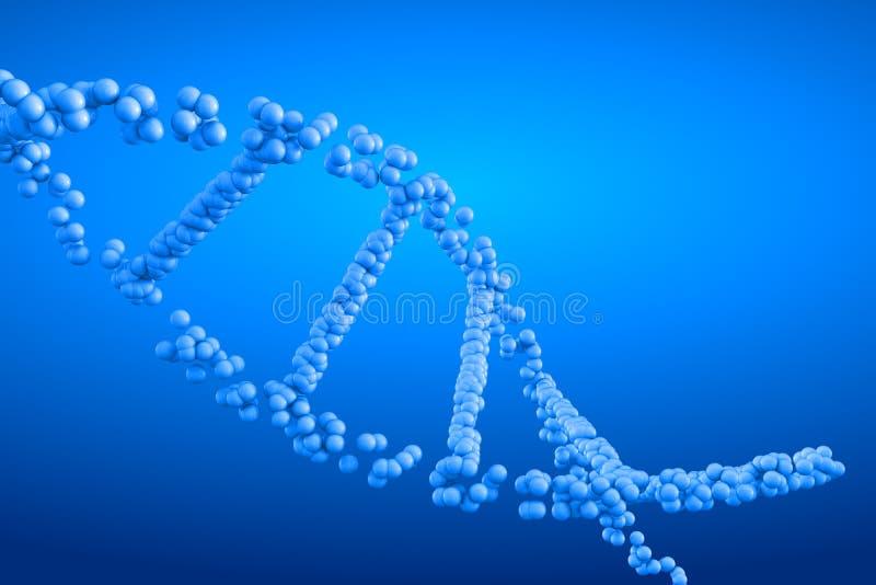 3d het teruggeven molecule van DNA stock illustratie