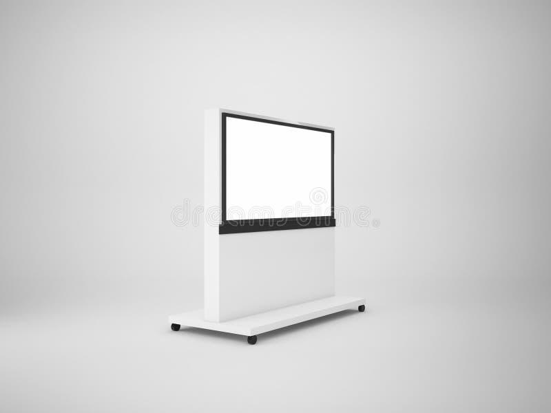 3d het teruggeven muur van TV op wit, spot op illustratie wordt geïsoleerd die vector illustratie