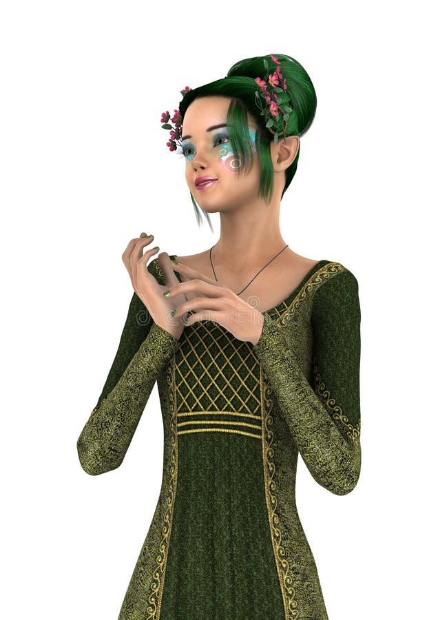 3D het Teruggeven Prinses van de Lente op Wit royalty-vrije illustratie
