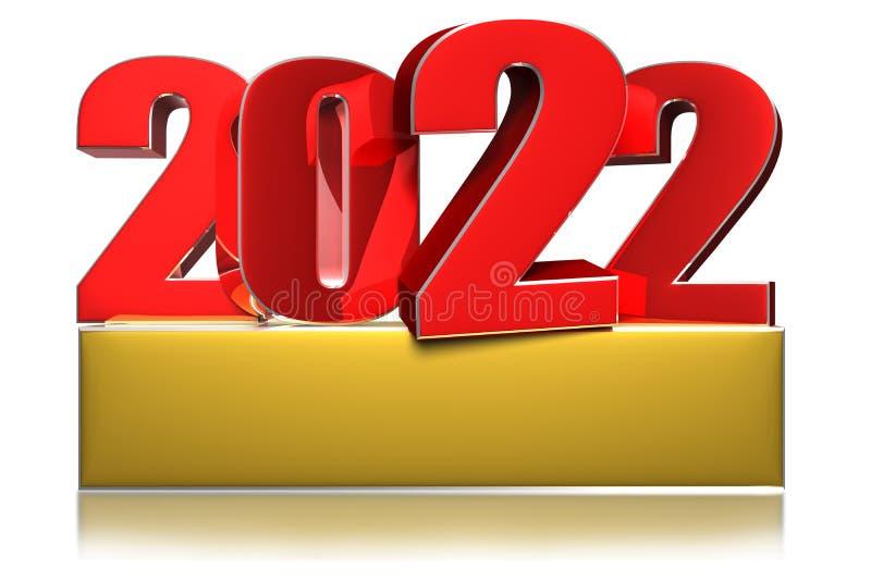 3D 2022 royalty-vrije illustratie