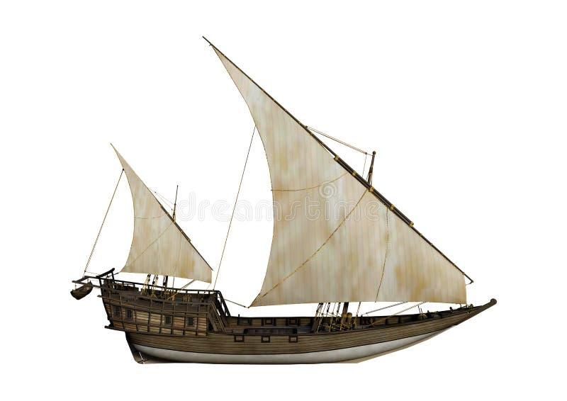 Download 3D Het Teruggeven Varend Schip Op Wit Stock Illustratie - Illustratie bestaande uit zeil, achtergrond: 114225230