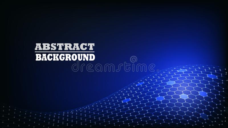 Abstract Hexagon Pattern Modern Background. royalty free stock image