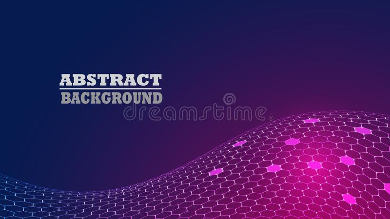 Abstract Hexagon Pattern Modern Background. stock photo
