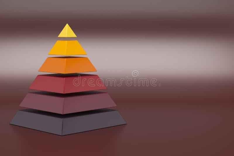 3d hierarchia ostrosłup ilustracja wektor