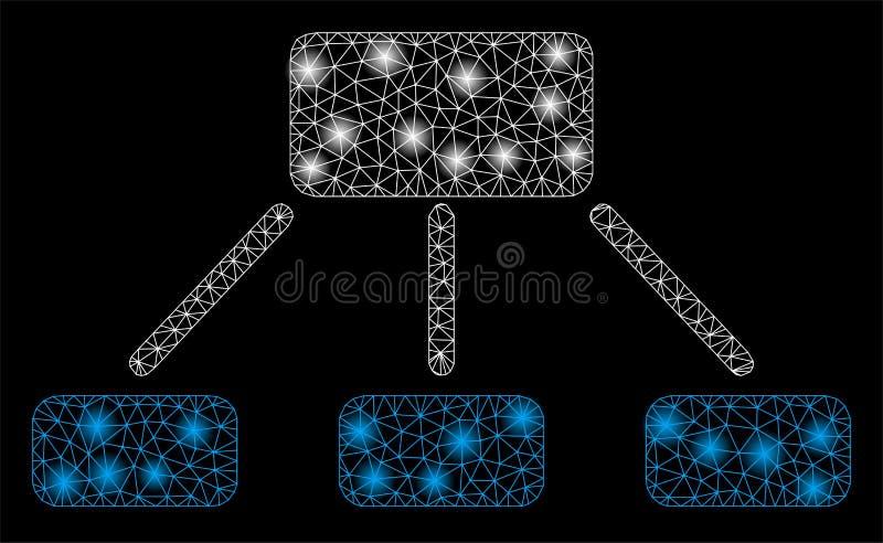 2D hierarki för signalljusingrepp med signalljusfläckar vektor illustrationer