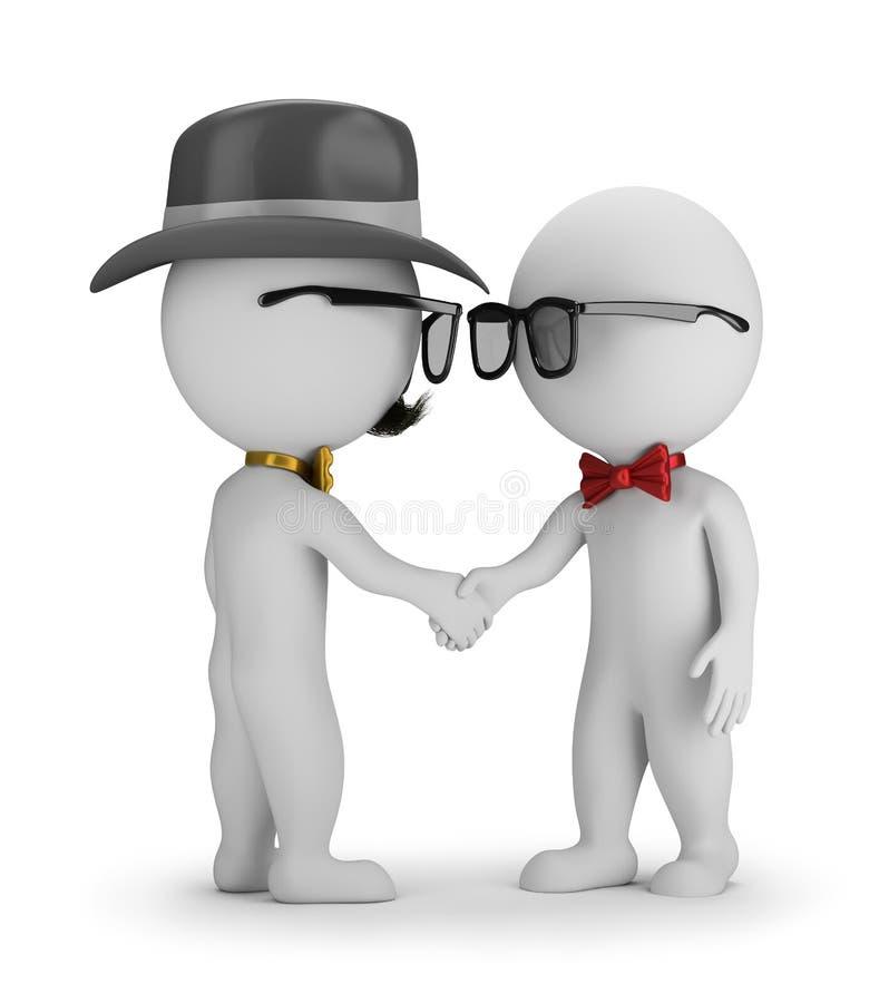 Download 3D Hipster - Handshake stock illustration. Illustration of background - 68376446