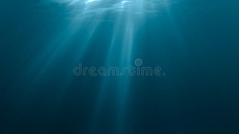 3D hizo el ejemplo de rayos ligeros submarino stock de ilustración