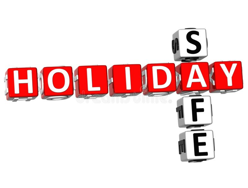 3D Holiday Safe Crossword. On white background royalty free illustration