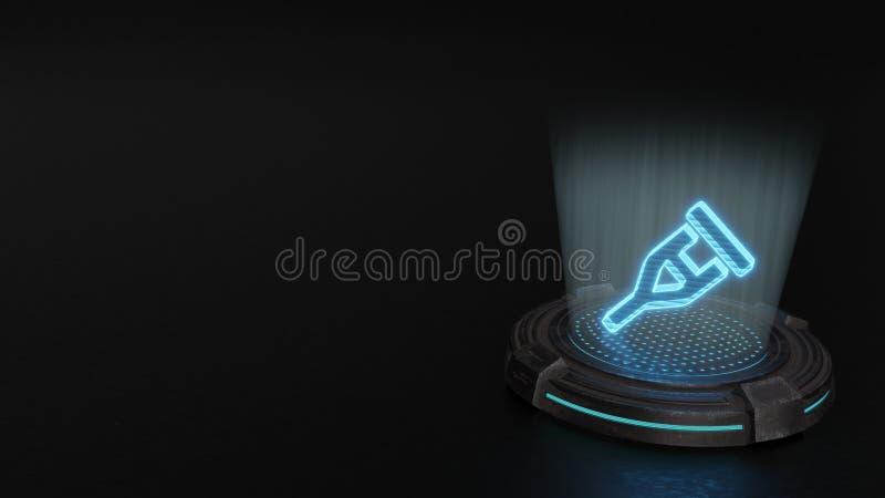 3d holograma symbol szczudło ikona odpłaca się ilustracja wektor