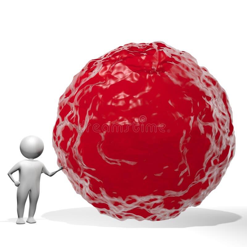 3D hombre - agua roja/sangre libre illustration