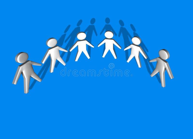 3d hombres, equipo de la persona junto - libre illustration