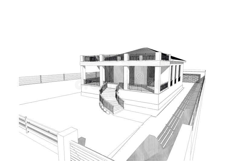 3D home stock illustration. Illustration of homes, design - 84033948