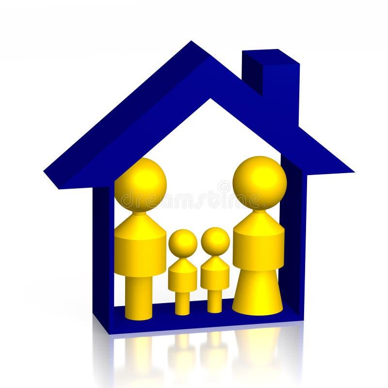 3D home/rodzinnego asekuracyjnego pojęcie ilustracji