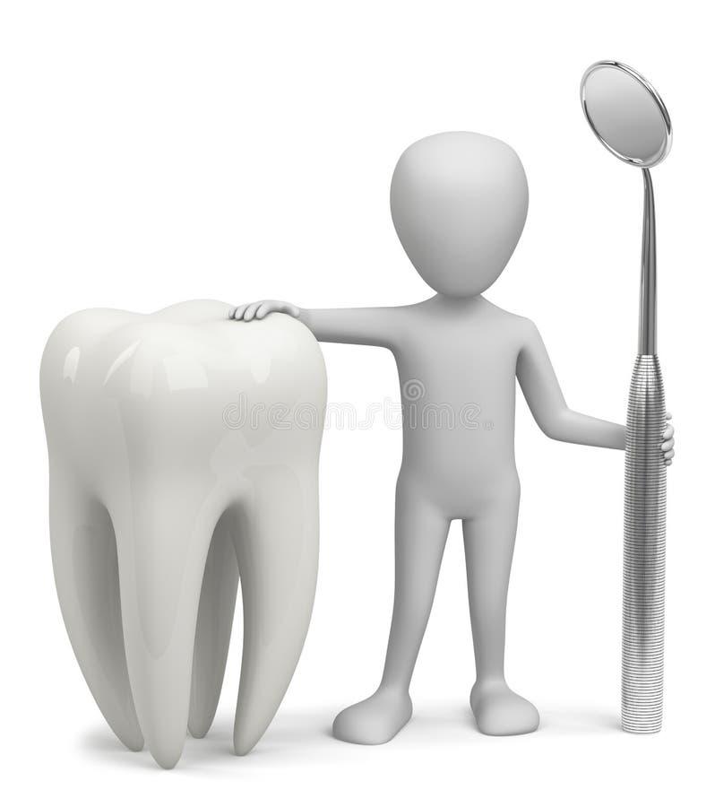 3D homme - le dentiste. illustration stock