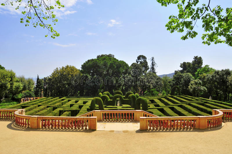 d'Horta de Parc del Laberint en Barcelona, España foto de archivo