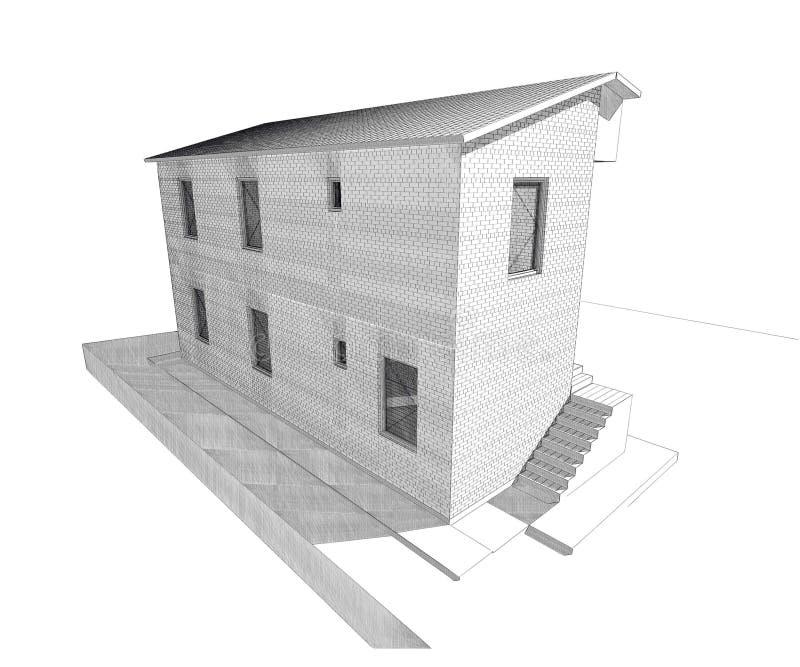 Residential house design vector illustration