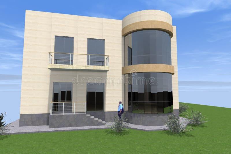Residential house 3D design vector illustration